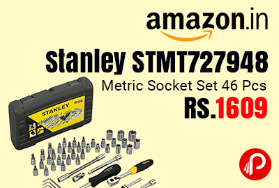 Stanley STMT727948 Metric Socket Set 46 Pcs