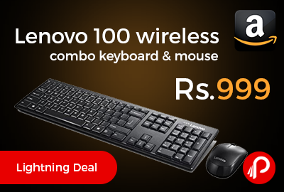 Lenovo 100 wireless combo keyboard & mouse