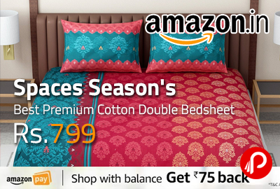 Spaces Season's Best Premium Cotton Double Bedsheet