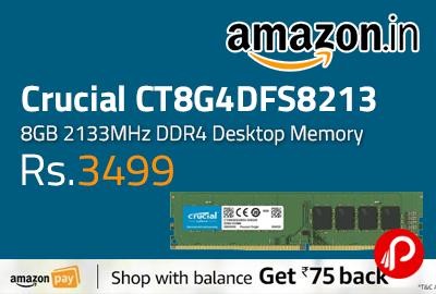 Crucial CT8G4DFS8213 8GB 2133MHz DDR4 Desktop Memory
