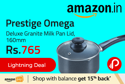 Prestige Omega Deluxe Granite Milk Pan Lid, 160mm