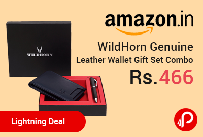WildHorn Genuine Leather Wallet Gift Set Combo