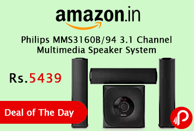 Philips MMS3160B/94 3.1 Channel Multimedia Speaker System