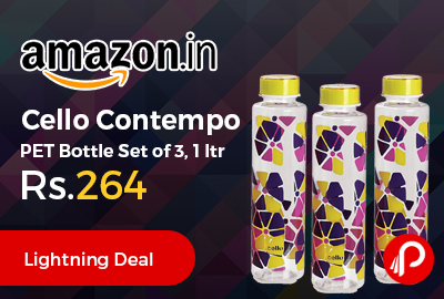 Cello Contempo PET Bottle Set of 3, 1 ltr