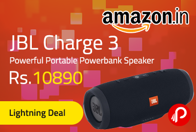 JBL Charge 3 Powerful Portable Powerbank Speaker