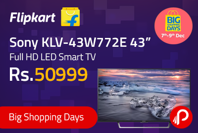 "Sony KLV-43W772E 43"" Full HD LED Smart TV"