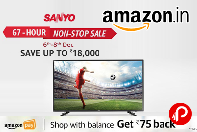 Sanyo TV 67 Hour Non-Stop Sale Save