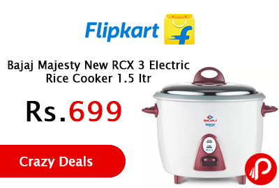 Bajaj Majesty New RCX 3 Electric Rice Cooker 1.5 ltr