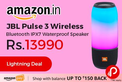 JBL Pulse 3 Wireless Bluetooth IPX7 Waterproof Speaker