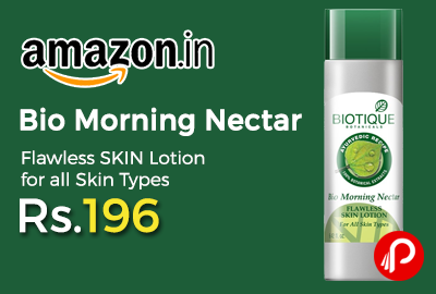 Bio Morning Nectar Flawless SKIN Lotion for all Skin Types