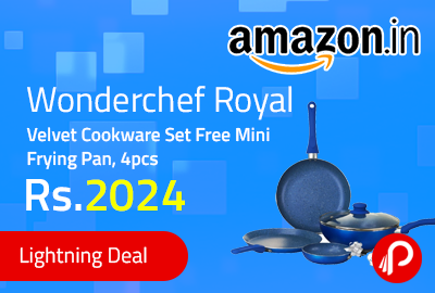 Wonderchef Royal Velvet Cookware Set Free Mini Frying Pan, 4pcs