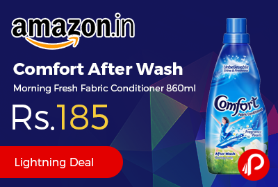 Comfort After Wash Morning Fresh Fabric Conditioner 860ml at Rs.185 - Amazon