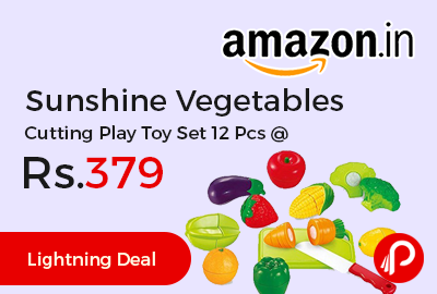 Sunshine Vegetables Cutting Play Toy Set 12 Pcs
