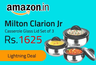Milton Clarion Jr Casserole Glass Lid Set of 3