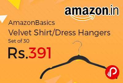 AmazonBasics Velvet Shirt/Dress Hangers Set of 30