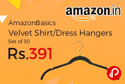 AmazonBasics Velvet Shirt/Dress Hangers Set of 30