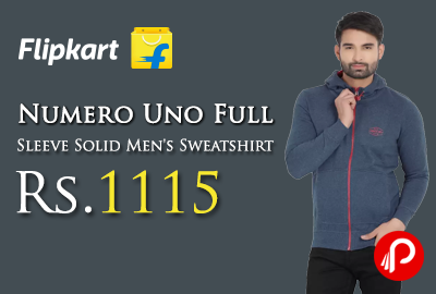 Numero Uno Full Sleeve Solid Men's Sweatshirt