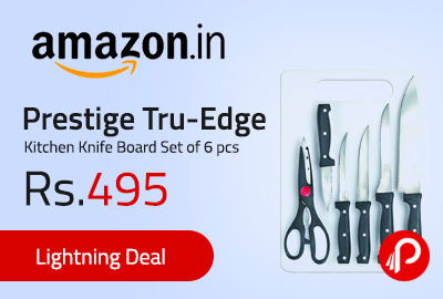 Prestige Tru-Edge Kitchen Knife Board Set of 6 pcs