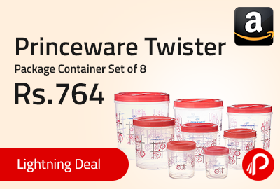 Princeware Twister Package Container Set of 8