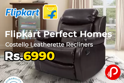 Flipkart Perfect Homes Costello Leatherette Recliners