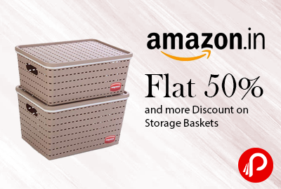 Flat 50% and More Discount on Storage Baskets- Amazon